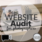 Photographers website audit by Featured Photog